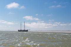 Cążki na holendera Wadden morzu Zdjęcia Royalty Free
