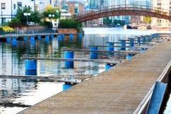 Cążki Quay, wyspa psy, Londyn Zdjęcia Stock