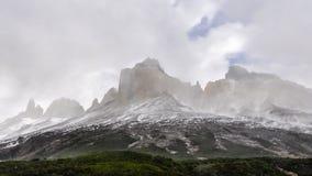 c中央智利de del挂接国家ndor nido norte paine公园巴塔哥尼亚锐化sur可视torre的torres 库存图片