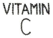 c新鲜的健康桔子样式维生素 在白色背景的黑醋栗莓果 免版税库存图片