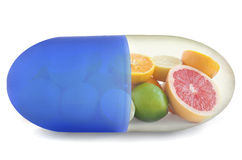 c新鲜的健康桔子样式维生素 库存照片