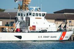 c现场d s至尊u华盛顿 S 海岸卫队切削刀鳄鱼,位于开普梅点, NJ 免版税库存图片