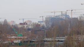 33c 1月横向俄国温度ural冬天 城市的工业区 Sityscape 股票视频