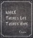 C'? citazione di Cicerone di speranza immagini stock libere da diritti
