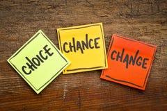 3C έννοια - επιλογή, πιθανότητα και αλλαγή Στοκ εικόνες με δικαίωμα ελεύθερης χρήσης