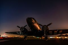 C-47 ήρεμο Lassie Στοκ εικόνες με δικαίωμα ελεύθερης χρήσης