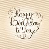 C днем рожденья - литерность Стоковое Изображение