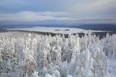 33c 1月横向俄国温度ural冬天 俄国 免版税库存照片