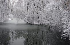 33c 1月横向俄国温度ural冬天 俄罗斯的中间车道 图库摄影