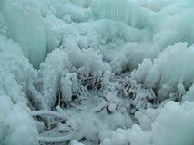 33c 1月横向俄国温度ural冬天 冻结水 免版税库存图片