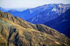 33c 1月横向俄国温度ural冬天 奥地利,阿尔卑斯,冰川Stubai 高度3210m 库存图片