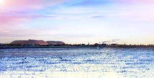 33c 1月横向俄国温度ural冬天 山的看法 Soligorsk 库存图片