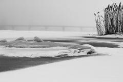 33c 1月横向俄国温度ural冬天 本质的构成 免版税库存图片