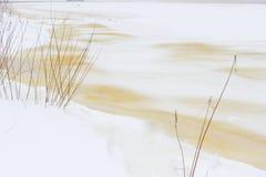 33c 1月横向俄国温度ural冬天 本质的构成 免版税库存照片