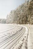 33c 1月横向俄国温度ural冬天 湖Tuhka 俄国 库存照片