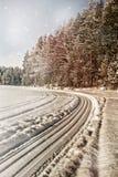33c 1月横向俄国温度ural冬天 湖Tuhka 俄国 免版税库存照片