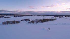 33c 1月横向俄国温度ural冬天 空中英尺长度 包括的路雪 影视素材