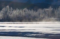 33c 1月横向俄国温度ural冬天 美国 飞机场 免版税库存图片