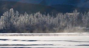 33c 1月横向俄国温度ural冬天 美国 飞机场 免版税库存照片