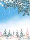 33c 1月横向俄国温度ural冬天 背景 雪 免版税库存图片