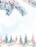 33c 1月横向俄国温度ural冬天 背景 雪 库存照片