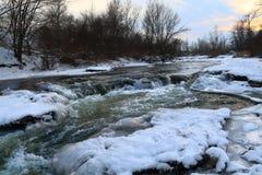33c 1月横向俄国温度ural冬天 Podkumok河在冬天 Georgievsk,俄罗斯 库存照片