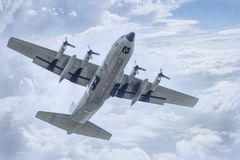 C-130泰国空军队 免版税库存图片