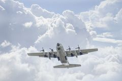 C-130泰国空军队 免版税库存照片