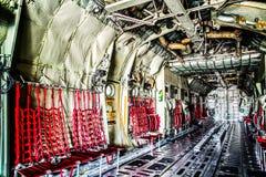 C130货物室航空器 库存图片