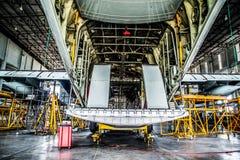 C130货物航空器 免版税库存照片