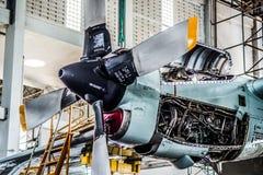 C130螺旋浆引擎 库存照片