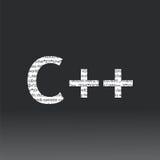 C++语言标志 库存图片