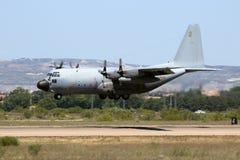 C-130赫拉克勒斯西班牙 免版税图库摄影