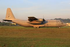 C-130赫拉克勒斯马来西亚空军, szb 免版税库存图片