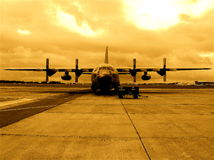 C-130 airplane Belgian army Stock Photos