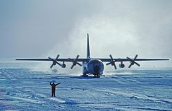 C-130 skiing Royalty Free Stock Photos