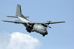 C-160 military transport plane Royalty Free Stock Photography