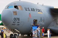 "C-17 ""Globemaster III"", Lewis-McChord Air Expo Royalty Free Stock Images"