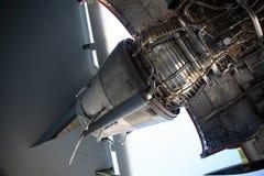 C-17 Military Aircraft Engine Stock Image