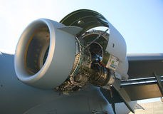 C-17 Military Aircraft Engine Stock Photography