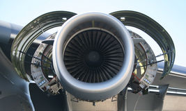C-17 Military Aircraft Engine stock images