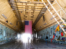 洛克希德C-5星系,货物举行 库存照片