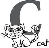 кот c алфавита животный Стоковая Фотография