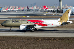 A9c-ADVERTENTIE Gulf Air, Luchtbus A320 - 200 royalty-vrije stock fotografie