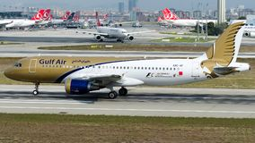 A9C-AF Gulf Air, Airbus A320-200 Photographie stock