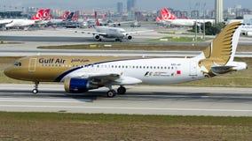 A9C-AF Gulf Air, flygbuss A320-200 Arkivbild