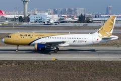A9C-AG Gulf Air, flygbuss A320 - 200 Arkivbilder