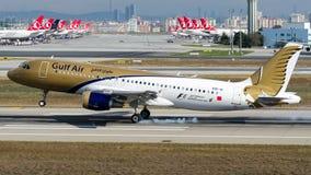 A9C-AI Gulf Air, flygbuss A320-200 Royaltyfria Bilder