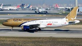 A9C-AL Gulf Air, flygbuss A320-200 Royaltyfri Foto