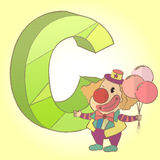 C Alphabet and Cartoon icon great for any use. Vector EPS10. Stock Images